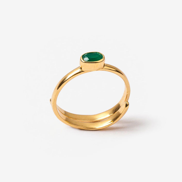 Green Onyx Sherbet Pip Ring SVP Jewellery