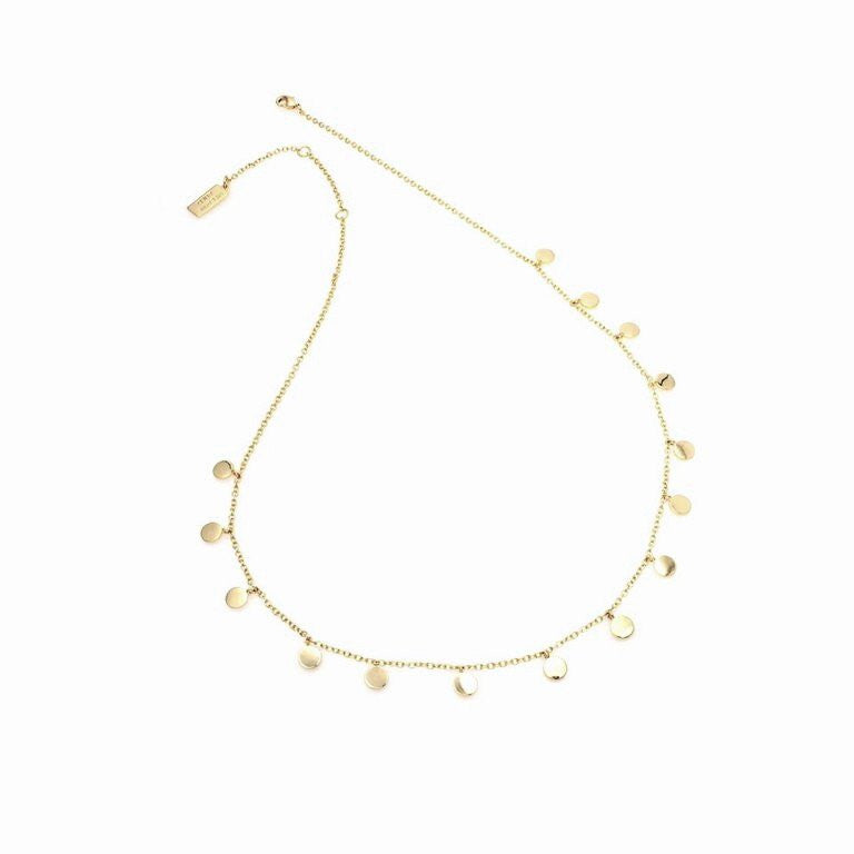 Gold Mini Disc Necklace Melanie Auld