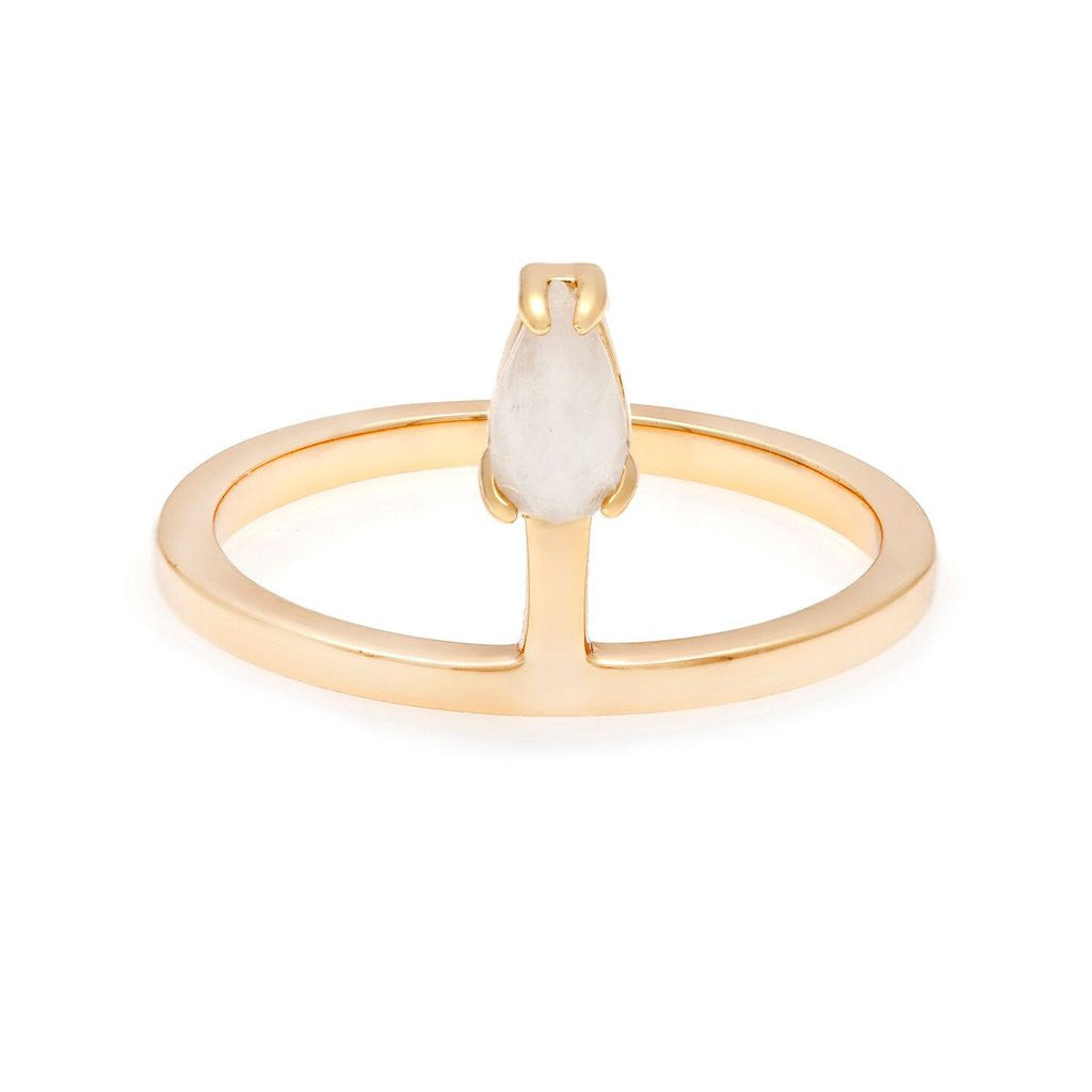 Mini teardrop stacking ring
