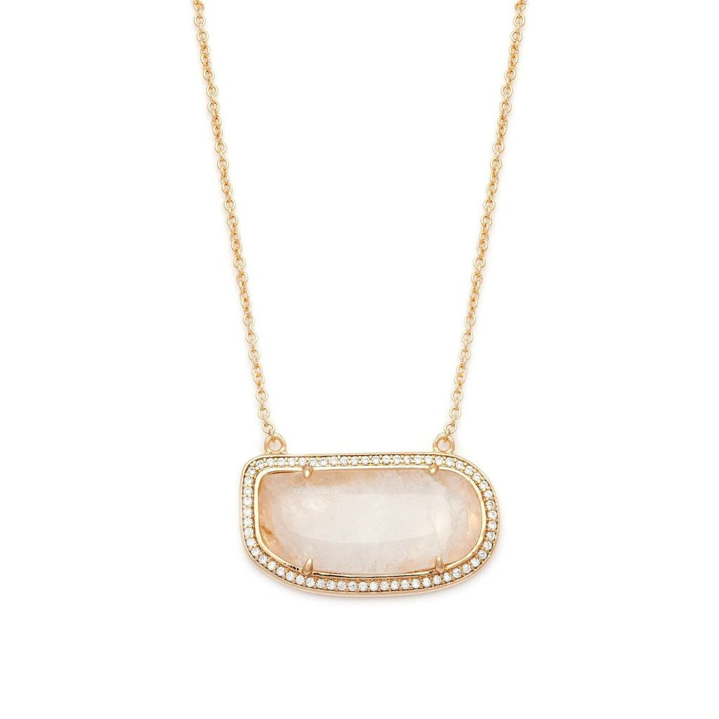 Moonstone Slice Necklace Melanie Auld