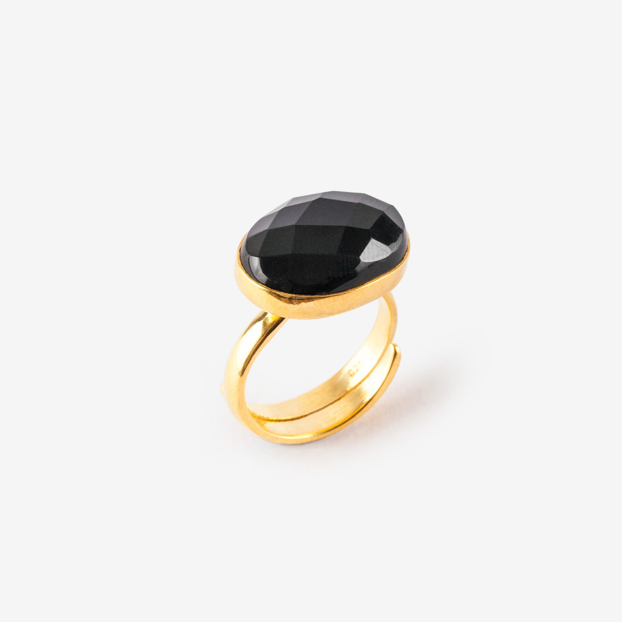 Black Onyx Bonbon Ring SVP Jewellery