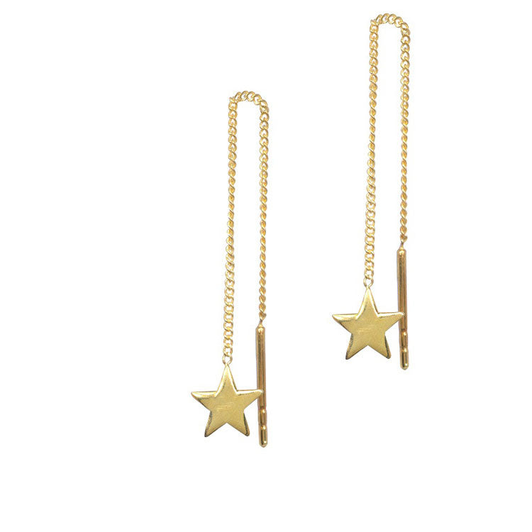 Star on Chain earrings from anna + nina