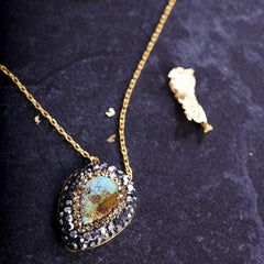 Persian Turquoise Necklace from sixforgold