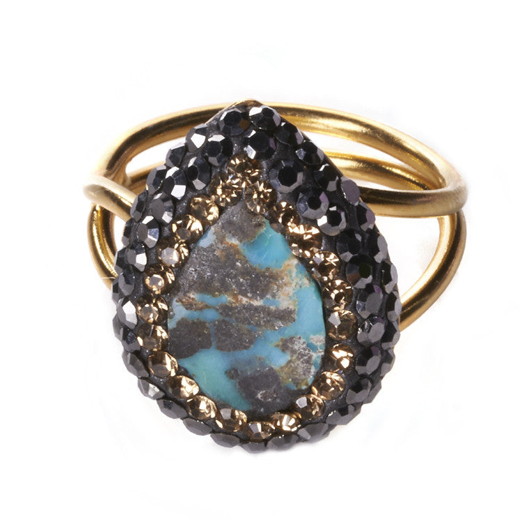 Native Gem Turquoise Ilume Ring sixforgold Boutique