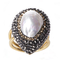 Native Gem Pearl Ilume Ring from sixforgold