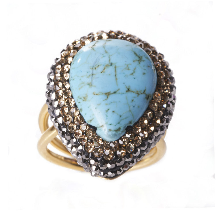 Native Gem Turquoise Ilume Ring from sixforgold