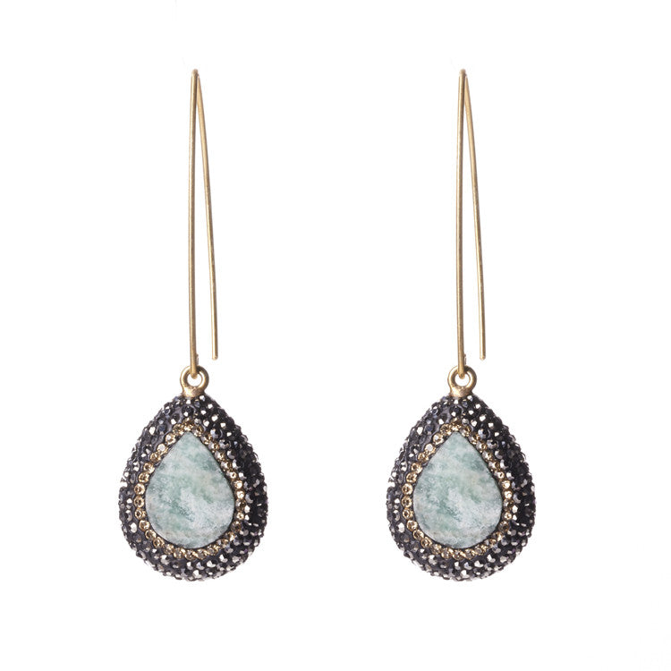 Native Gem Raw Opal Ilume Earrings from sixforgold