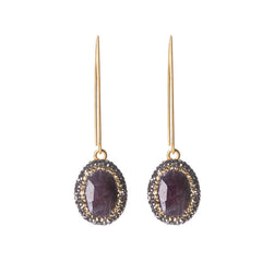 Native Gem Purple Sapphire Ilume Earrings from sixforgold