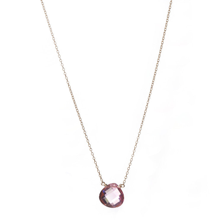 Catherine Weitzman Pink Topaz Necklace from sixforgold
