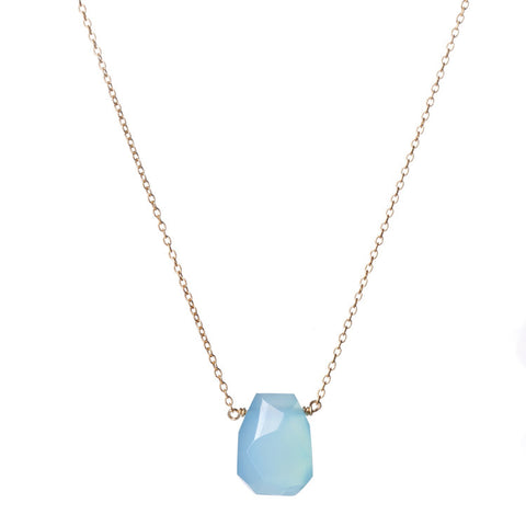 Blue Topaz Coral Necklace
