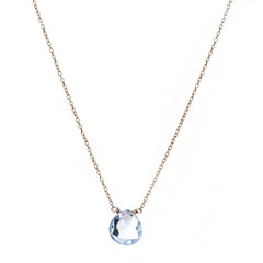 Catherine Weitzman Swiss Blue Topaz Necklace from sixforgold