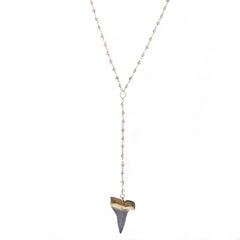 Heather Hawkins Labradorite Shark Tooth Necklace from sixforgold