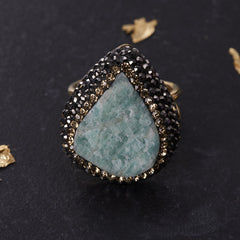 Native Gem Raw Opal Ilume ring from sixforgold