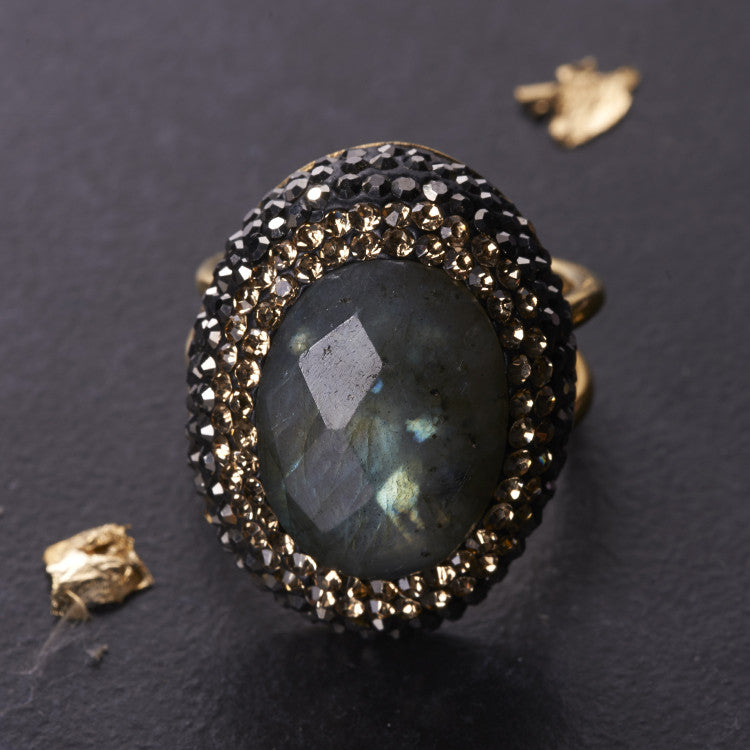 Native Gem Labradorite Ilume ring from sixforgold