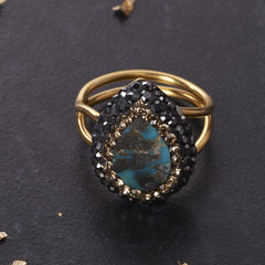 Native Gem Persian Turquoise Ilume Ring from sixforgold
