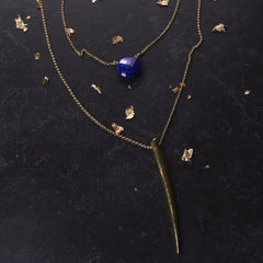 Heather Hawkins Gone Girl Necklace Blue Lapis from sixforgold