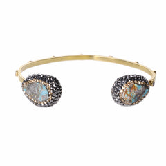 Native Gem Persian Turquoise Ilume Bangle from sixforgold