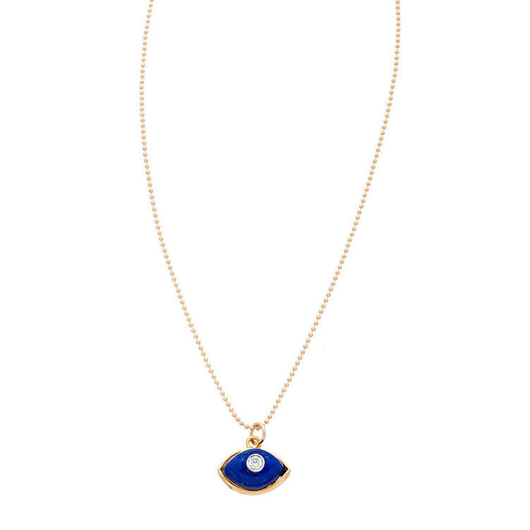 Evil Eye Necklace in Blue Lapis