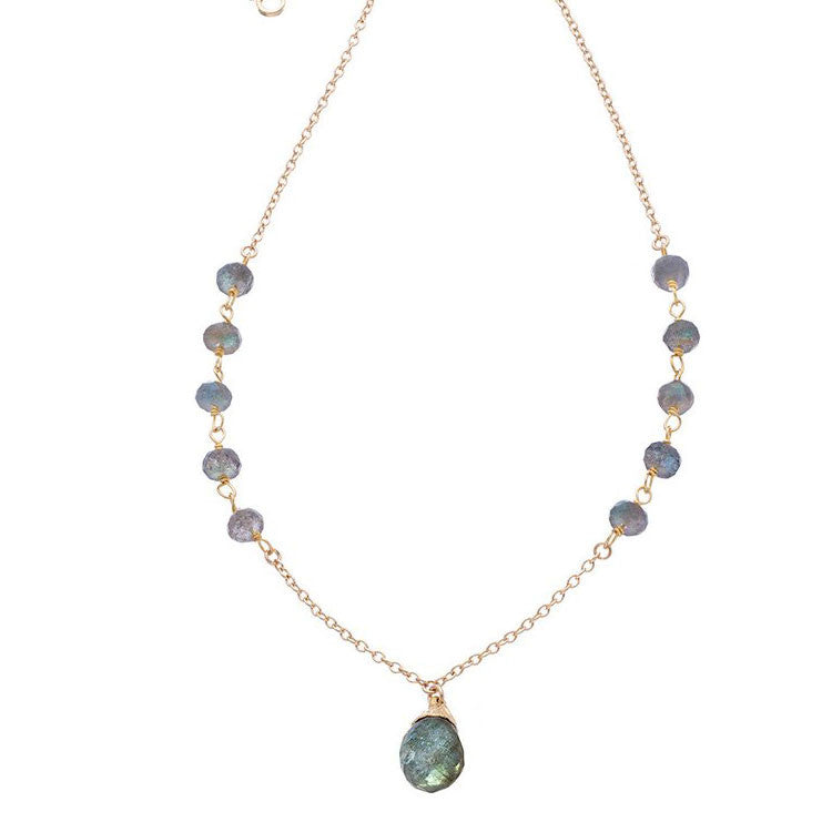 Little Gem Necklace in Labradorite