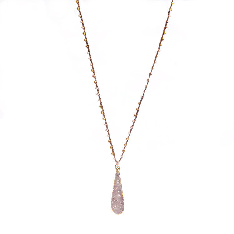Native Gem Pink Skinny Druzy from sixforgold