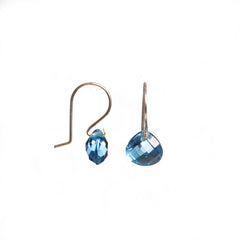 Catherine Swiss Blue Topaz Earrings from sixforgold