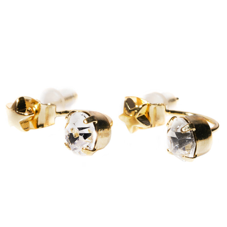 Front to back gold earrings a.v.max