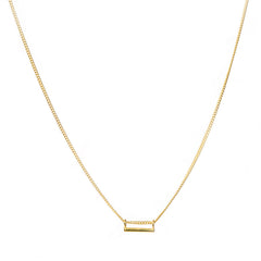 Gold Tiny Bar Necklace anna + nina