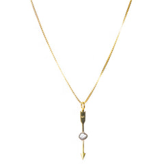 Grey Pearl Arrow Necklace anna + nina