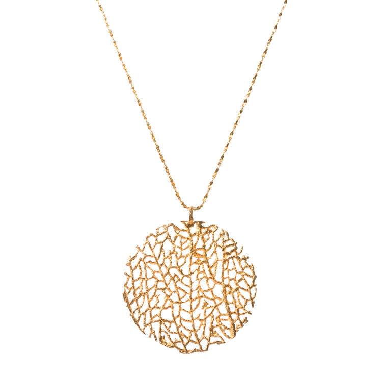 Gold Coral Necklace Catherine Weitzman