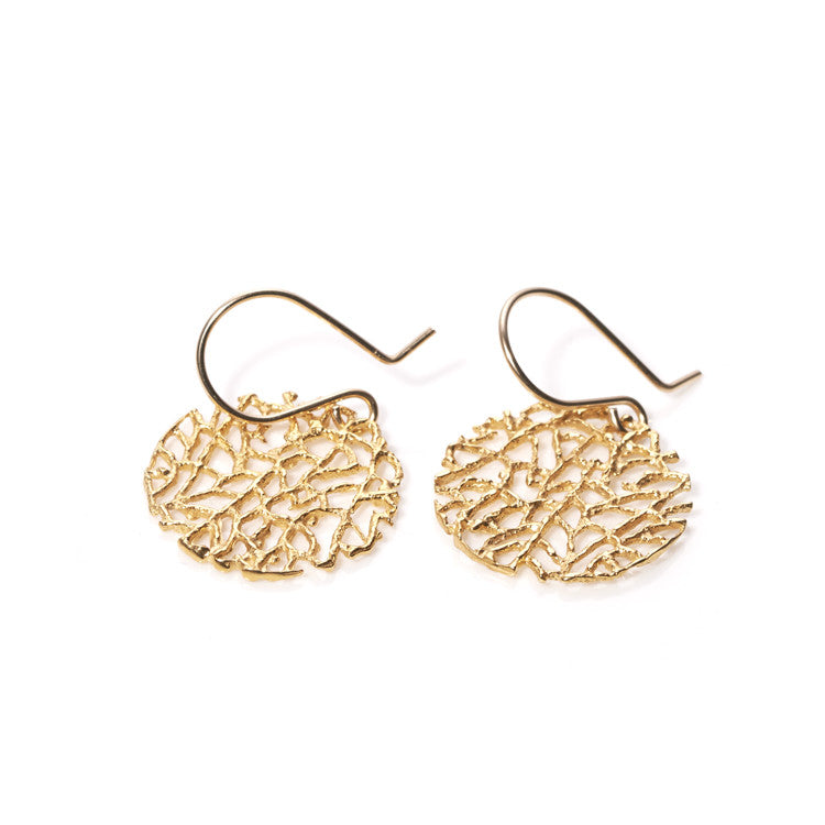 Gold Coral Earrings Catherine Weitzman