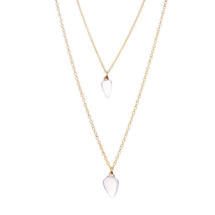 Moonstone Arrow Necklace Leah Alexandra