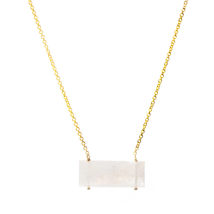 Moonstone Kinsey Necklace Leah Alexandra