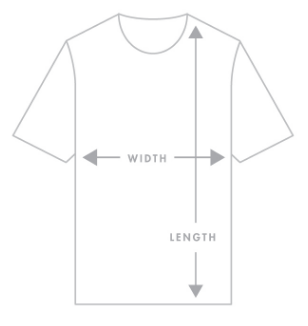 Shirt measurement height and width