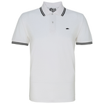 Classic Tipped Polo Shirt (White/Black)