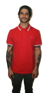 Atticus X Tyler Posey Print #3 'Sane Polo' Classic Tipped Shirt (Red/White)