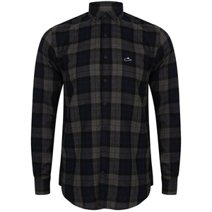 Plaid LS Button Up (Navy check)