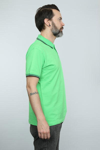 LTD Edition Tipped Polo Shirt (Lime)