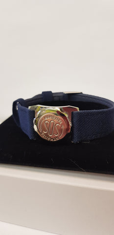 237506 STEEL WATCH ATTACHMENT WITH NAVY DENIM STRAP 18MM