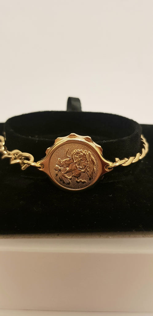 GOLD TONE LADIES BRACELET WITH GEORGE AND DRAGON 232362