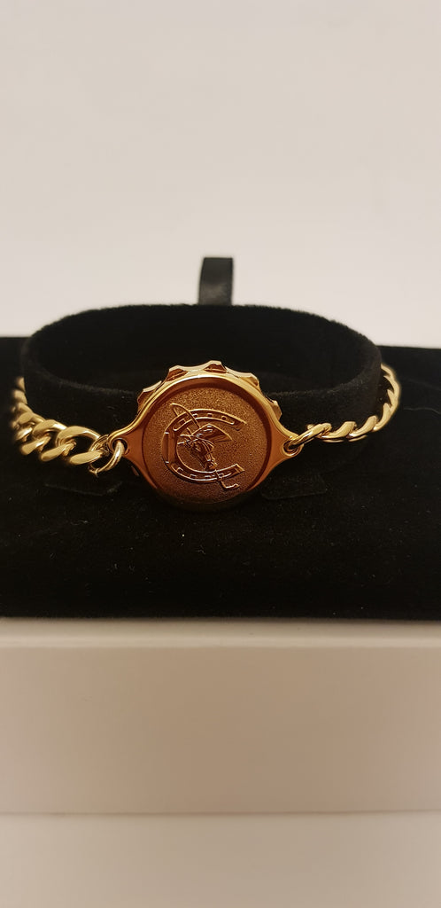 GOLD TONE LADIES BRACELET WITH HORSESHOE 232338