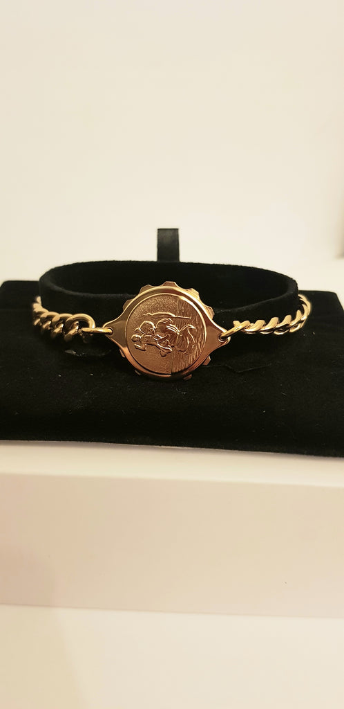 LADIES GOLD TONE ST CHRISTOPHER BRACELET 232336
