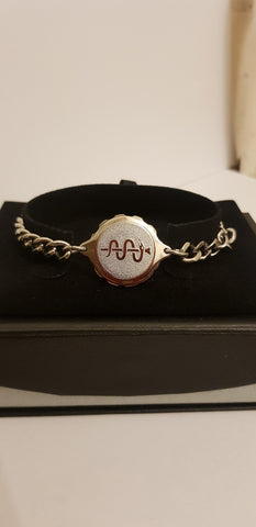 LADIES STEEL BRACELET WITH SNAKE N STAFF 235508