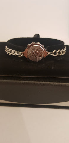 LADIES STEEL BRACELET WITH ST CHRISTOPHER 235504