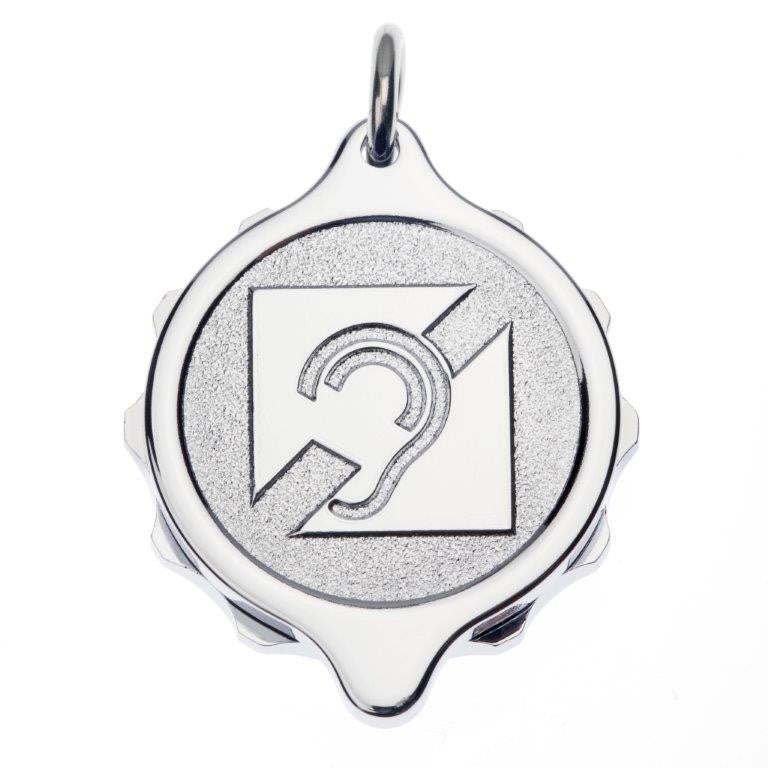 Chrome Plated Pendant with 22