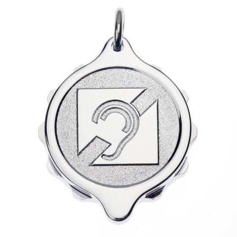 Chrome Plated Pendants - Deaf Logo
