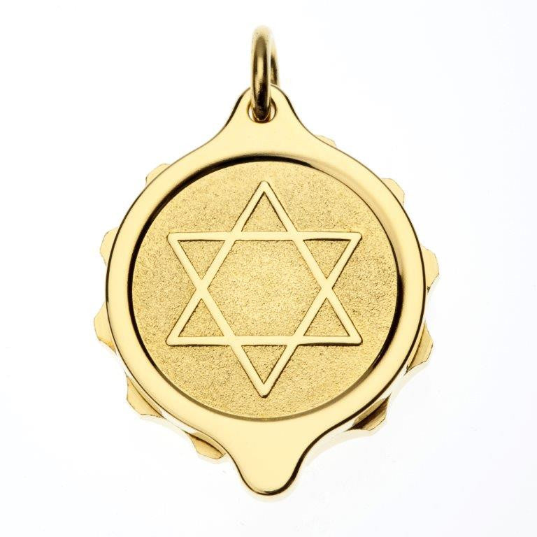 Gold Plated Star of David Pendant and Chain