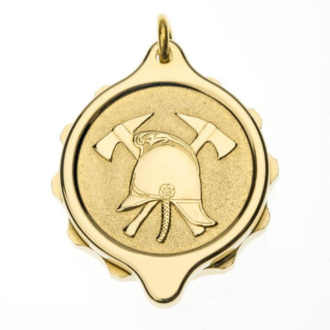 Gold Plated Fire Brigade Pendant and Chain