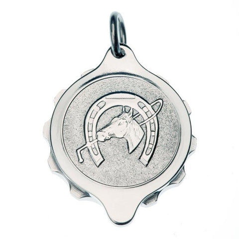 Stainless Steel  Horseshoe Pendant with 22