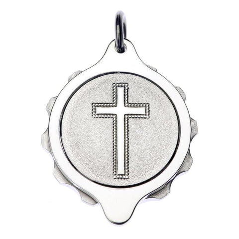Stainless Steel Christian Cross on 22