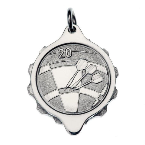 Stainless Steel Darts Pendant with 22